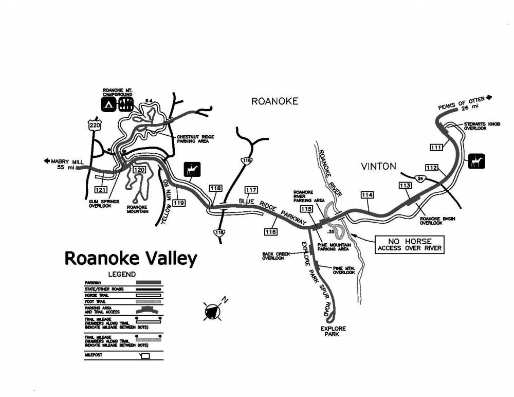 Roanoke Valley Map